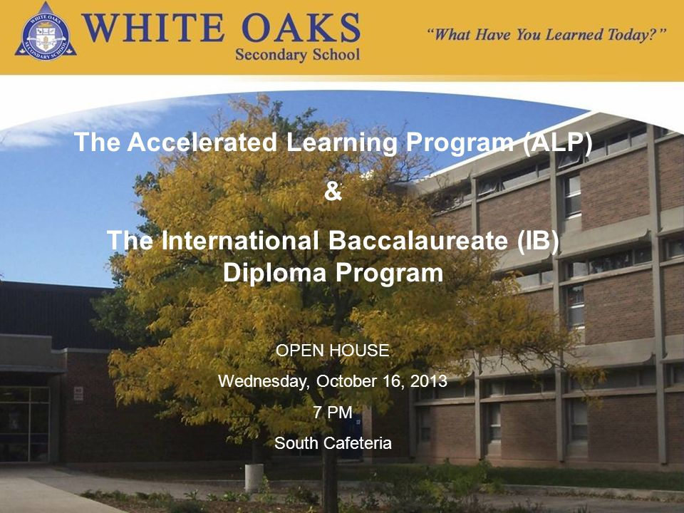 Tonights Overview What is the International Baccalaureate (IB).