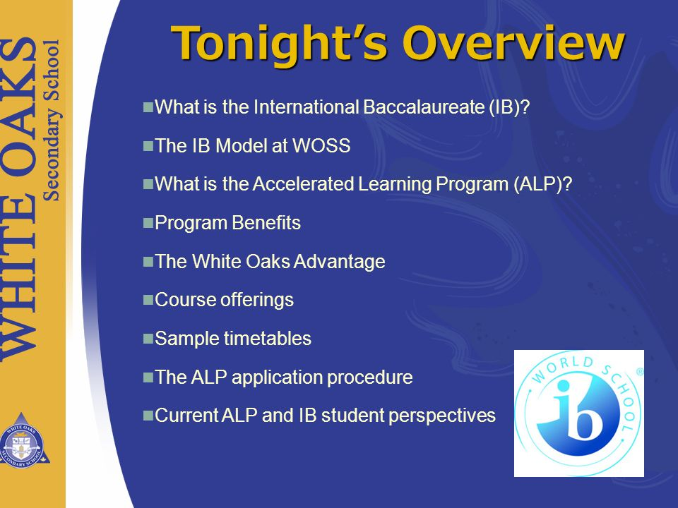 IB Assessments Diploma Programme assessment includes both final examinations and internal assessment undertaken by the teacher to IB criteria and then externally moderated by the IB.
