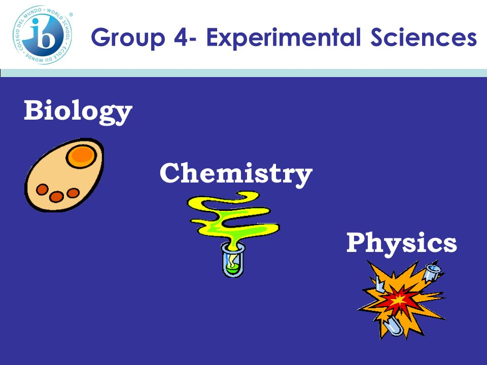 Group 4- Experimental Sciences Biology Chemistry Physics