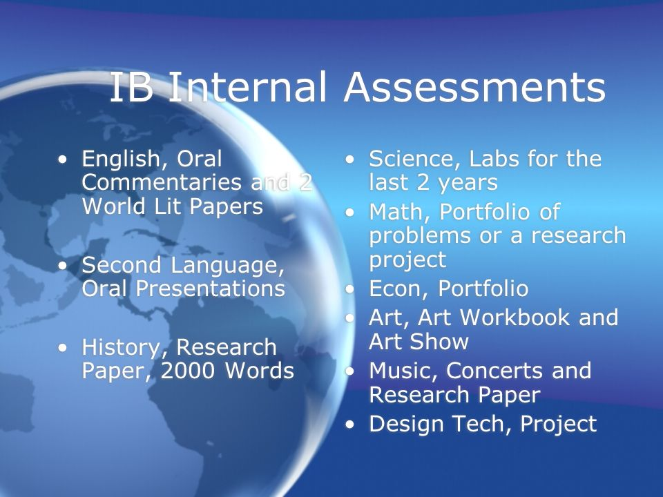 External Assessments May Exams Registration are due at the end of October Scholarship Requests form due at the end of October May Exams Registration are due at the end of October Scholarship Requests form due at the end of October