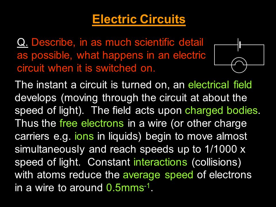 Energy and Work in Circuits In any electrical circuit energy is transferred from the power source (e.g.
