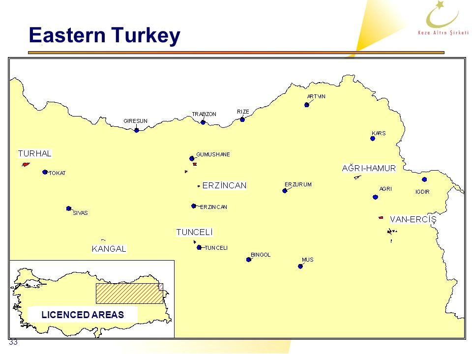33 Eastern Turkey LICENCED AREAS