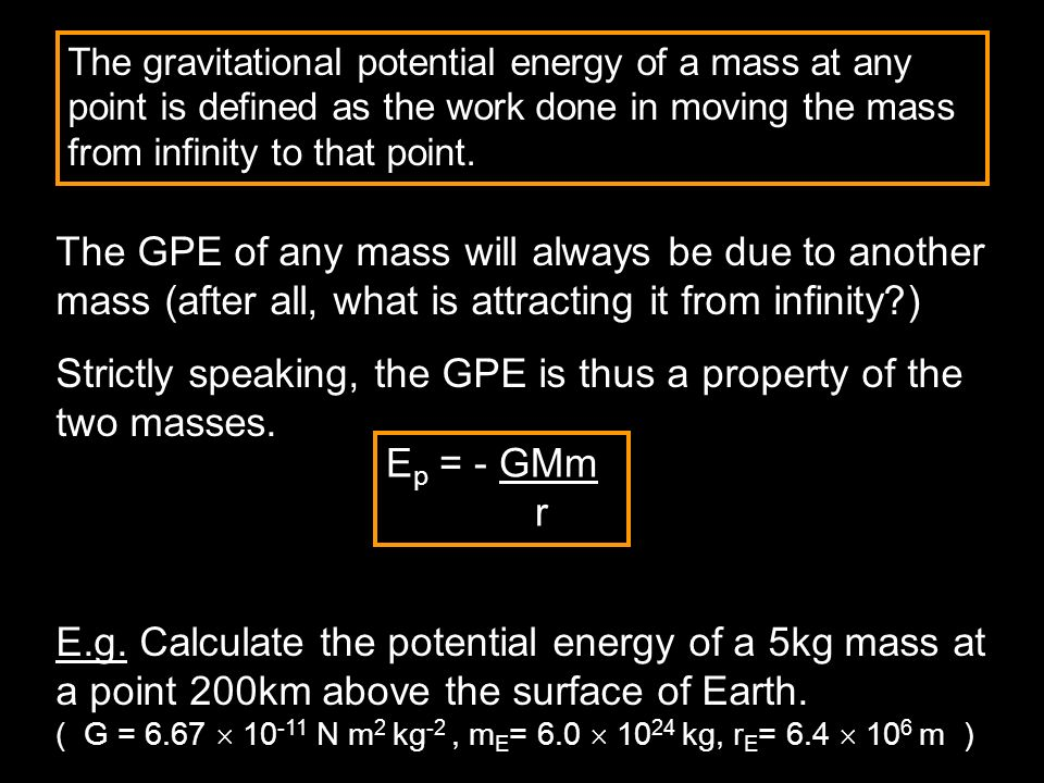 The GPE of any mass will always be due to another mass (after all, what is attracting it from infinity?) Strictly speaking, the GPE is thus a property