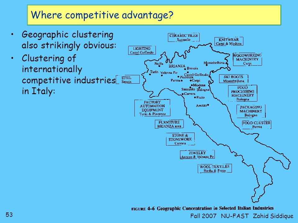 52 Fall 2007 NU-FAST Zahid Siddique Where competitive advantage?