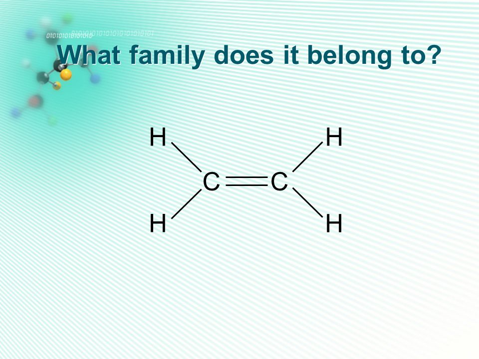 What family does it belong to? CC HH H H