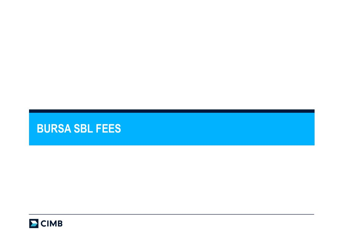 BURSA SBL FEES