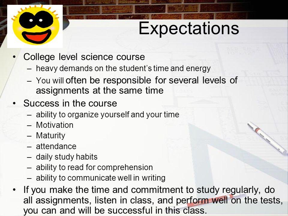 Expectations StudentTeacher