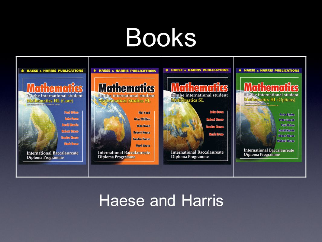 Books Haese and Harris