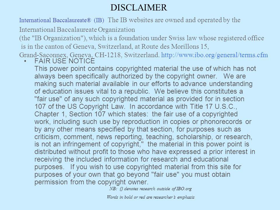 International Baccalaureate® (IB) Statements & Sentiments