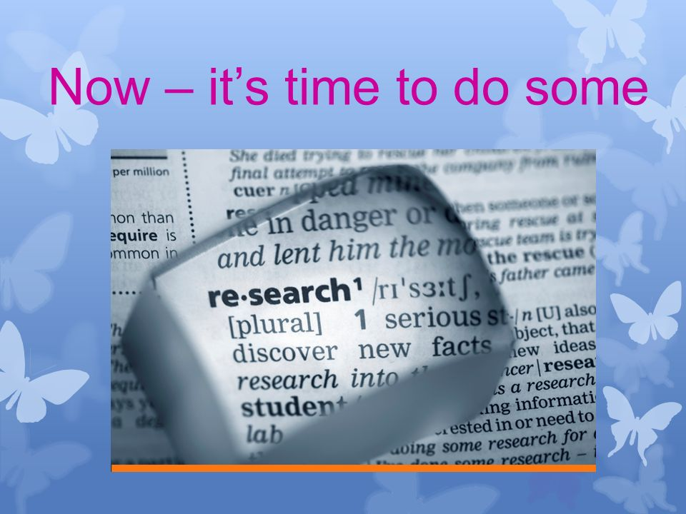 Now – its time to do some