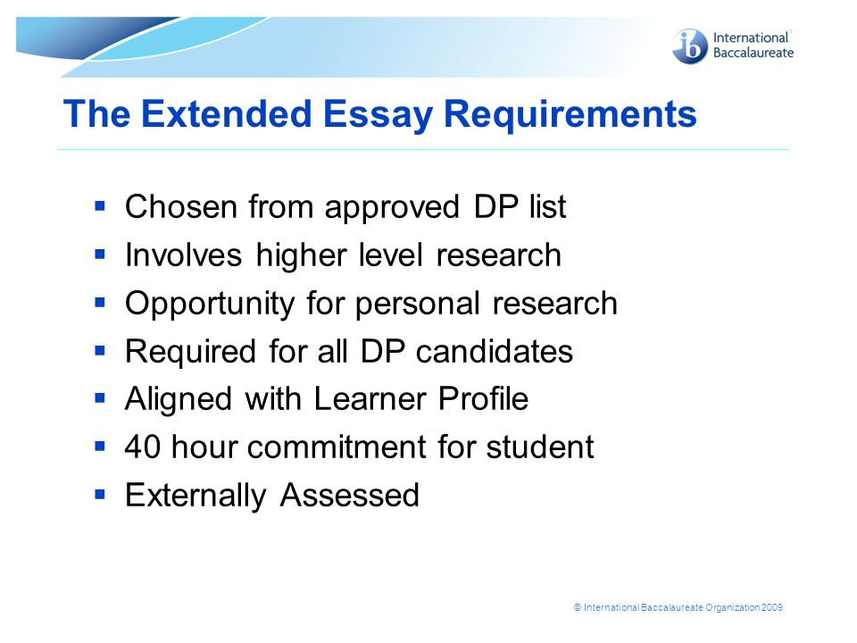 General guidelines for IB Music extended essay?