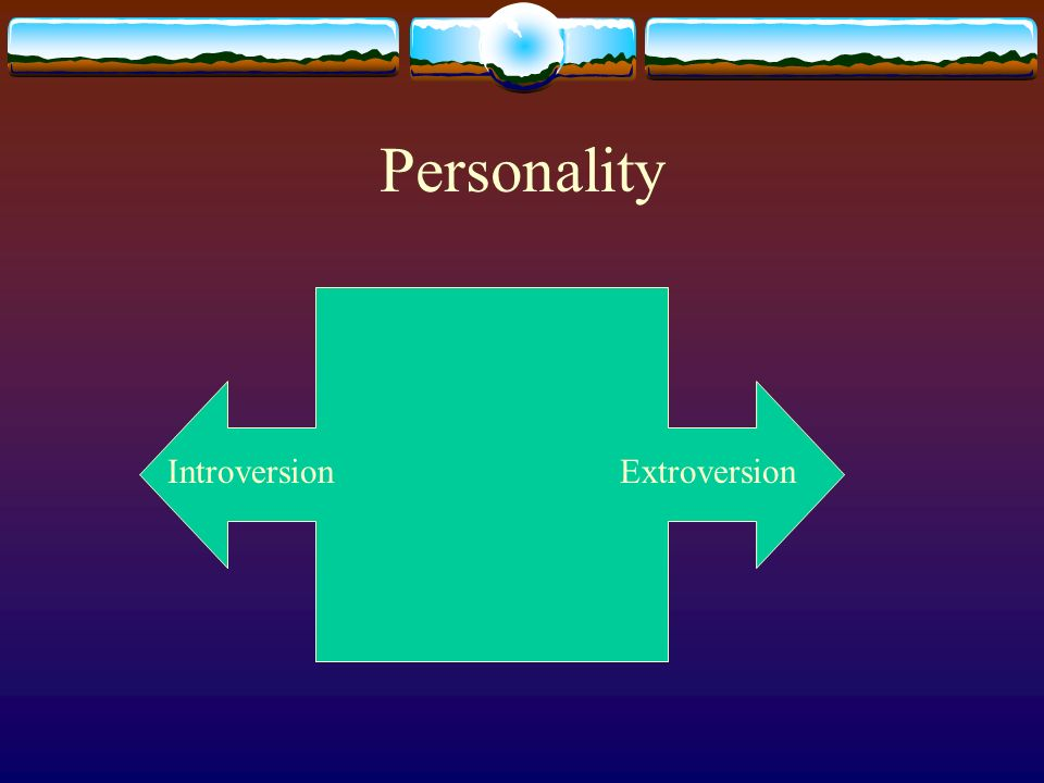 Personality IntroversionExtroversion