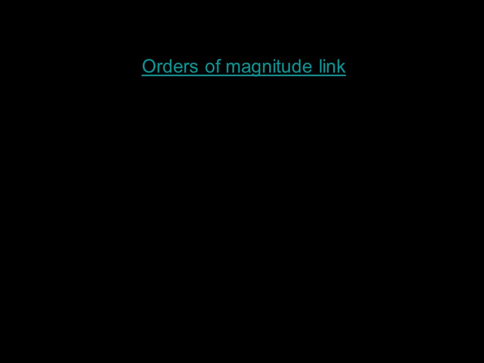Orders of magnitude link