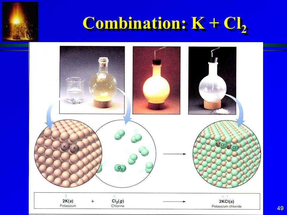 49 Combination: K + Cl 2