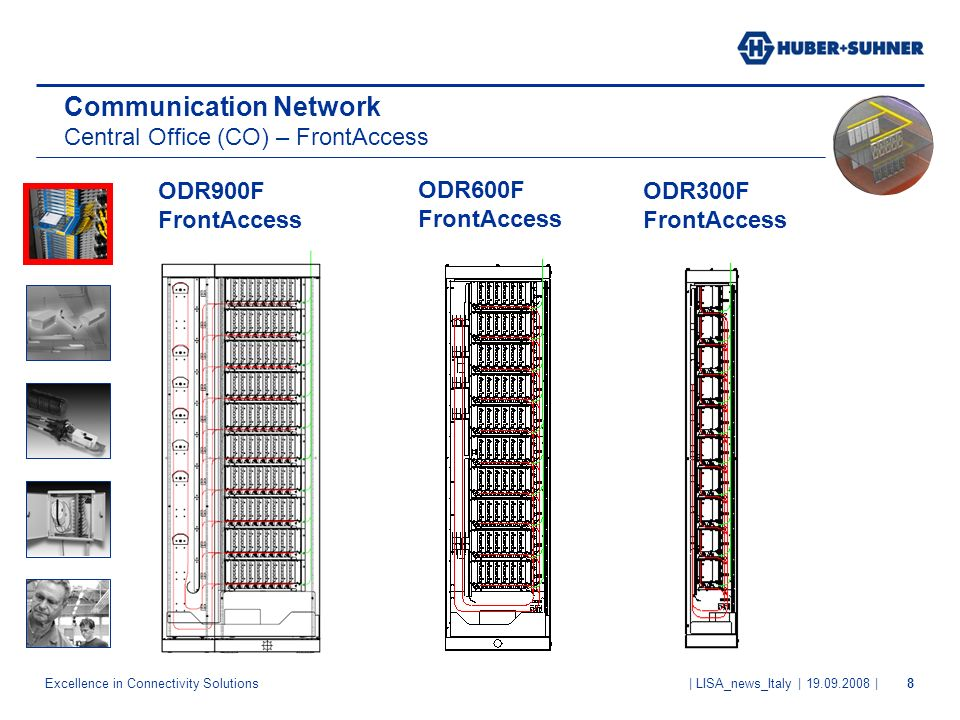 Excellence in Connectivity Solutions | LISA_news_Italy | 19.09.2008 |8 ODR900F FrontAccess Communication Network Central Office (CO) – FrontAccess ODR600F FrontAccess ODR300F FrontAccess