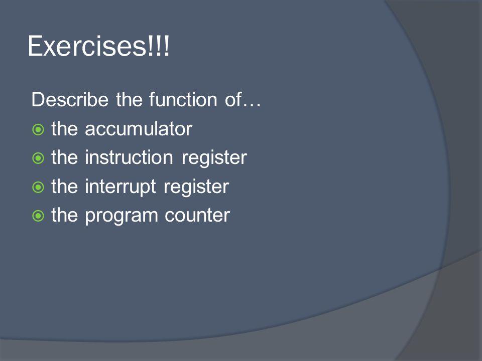 Exercises!!.