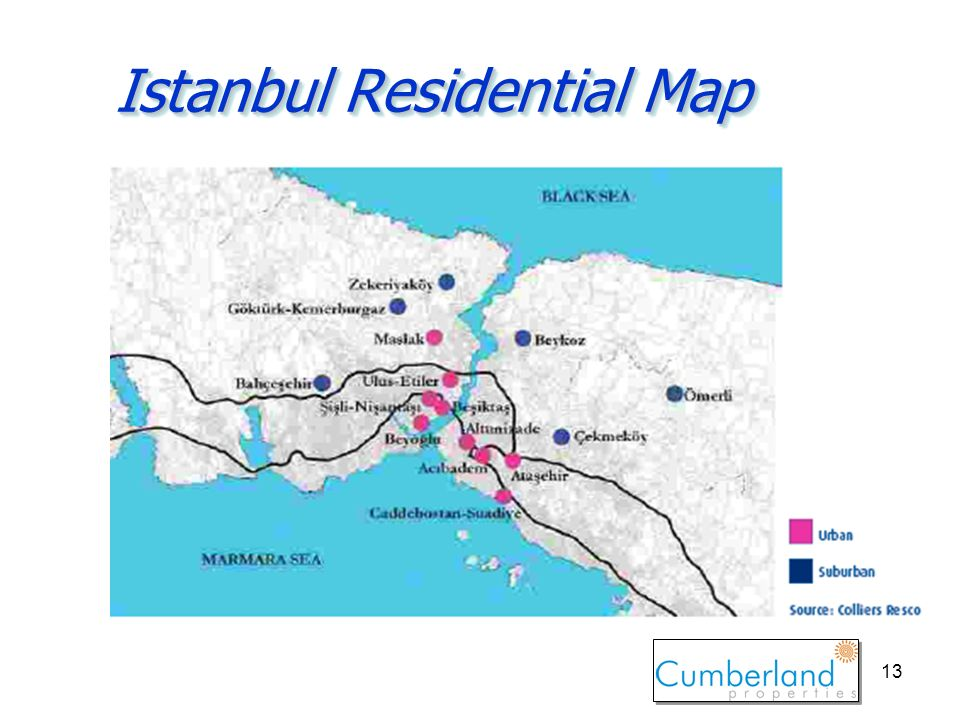 13 Istanbul Residential Map