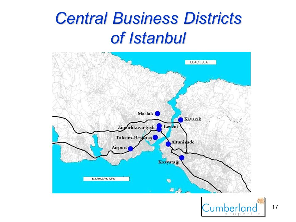 17 Central Business Districts of Istanbul