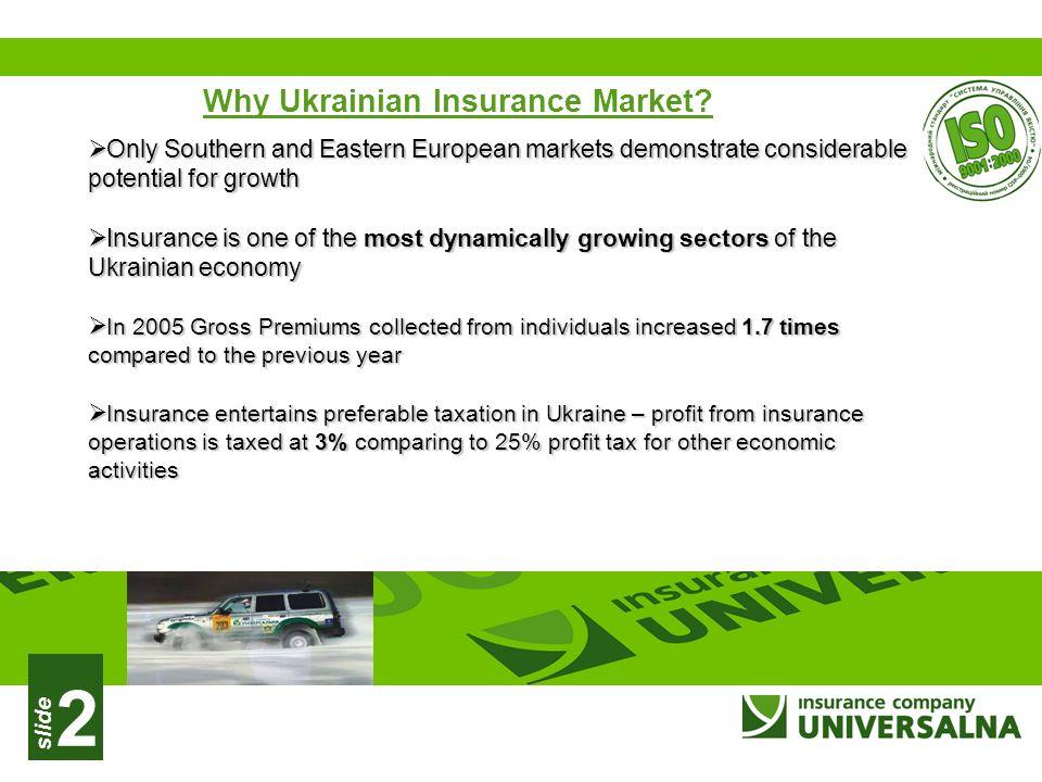 slide 2 Why Ukrainian Insurance Market.