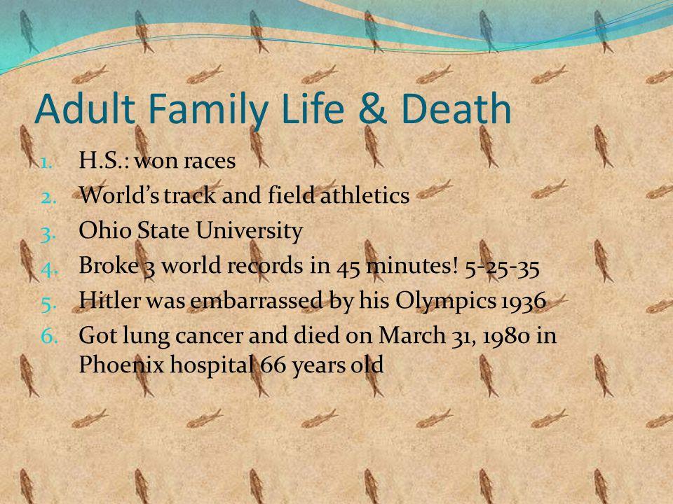 Birth & Childhood: 1. Born: September 12, 1913 in Oakville Alabama 2.