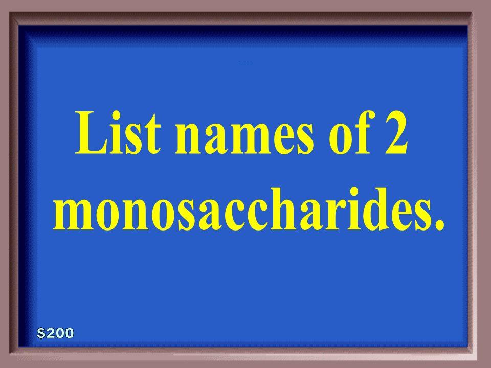 3-100A 1 - 100 Monosaccharides