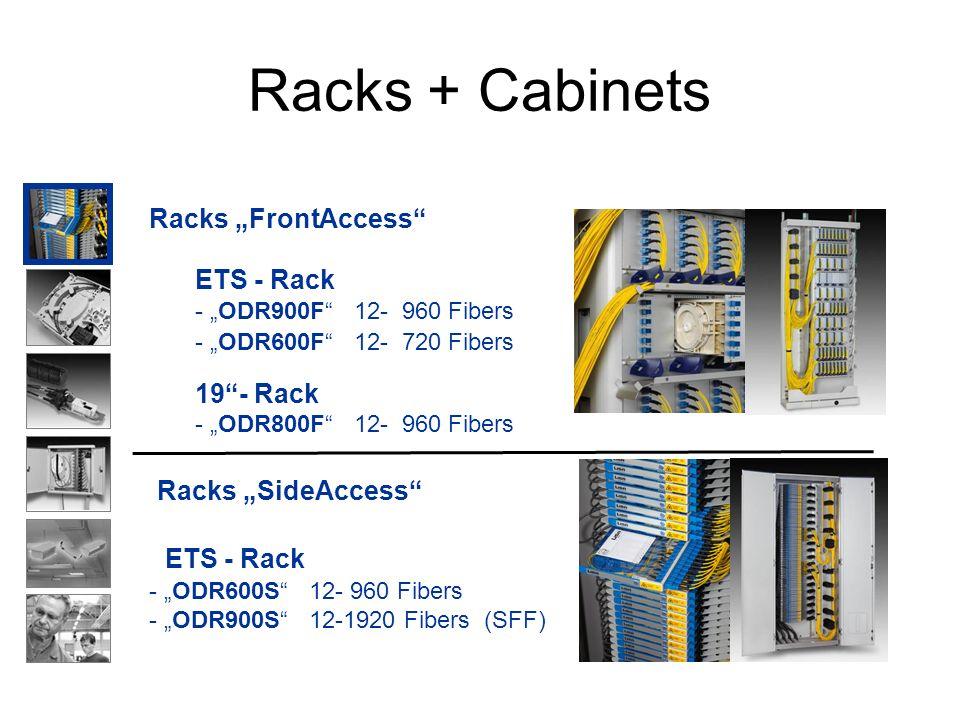 Racks + Cabinets ETS - Rack Racks FrontAccess 19- Rack - ODR800F 12- 960 Fibers - ODR600F 12- 720 Fibers - ODR900F 12- 960 Fibers ETS - Rack Racks Sid