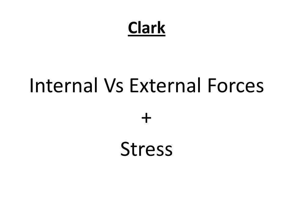 Clark Internal Vs External Forces + Stress