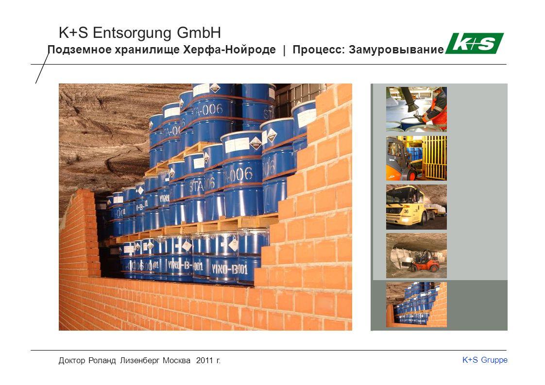 K+S Gruppe K+S Entsorgung GmbH Доктор Роланд Лизенберг Москва 2011 г.