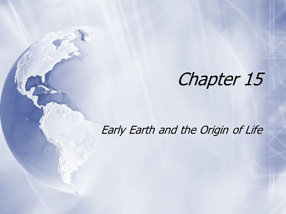 Life on Earth originated between 3.5 and 4.0 billion years ago.
