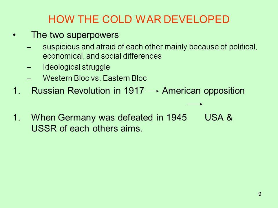 20 TECHNIQUES Containment--------Vietnam Alliances Appeasement Brinkmanship-------Cuban Missile Crises Isolationism Spheres of influence Q9