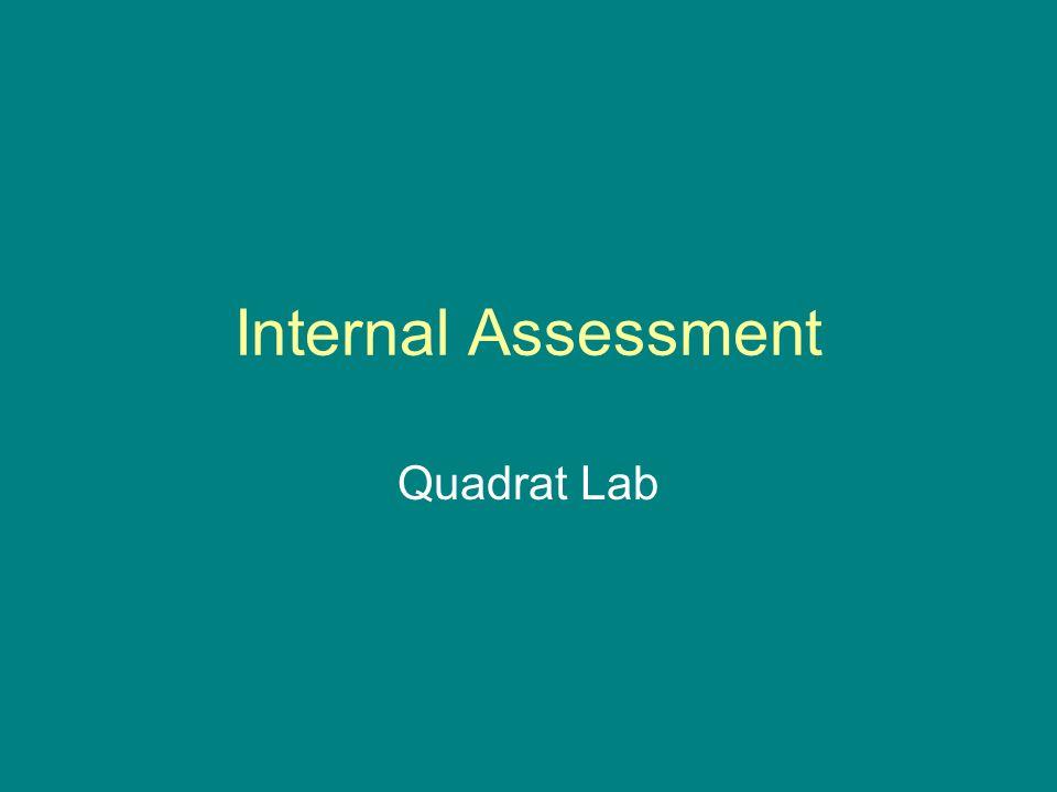 Internal Assessment Quadrat Lab