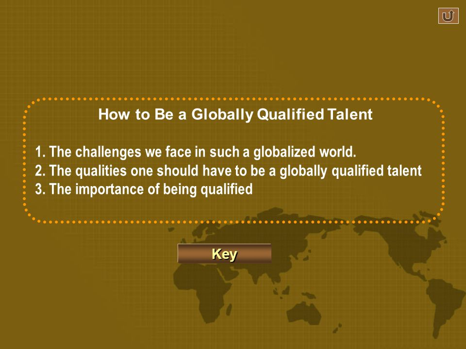 Ex. 16 Write a short passage of 120 words or so on the topic How to Be a Globally Qualified Talent.
