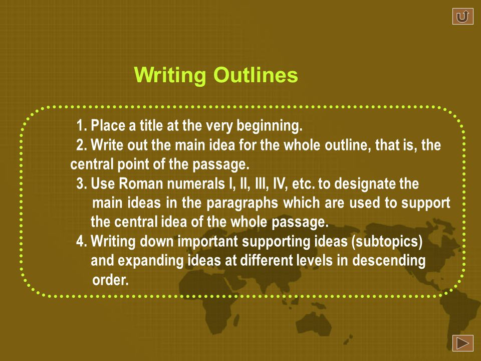 Writing an outline is an effective ways to improve ones writing ability.