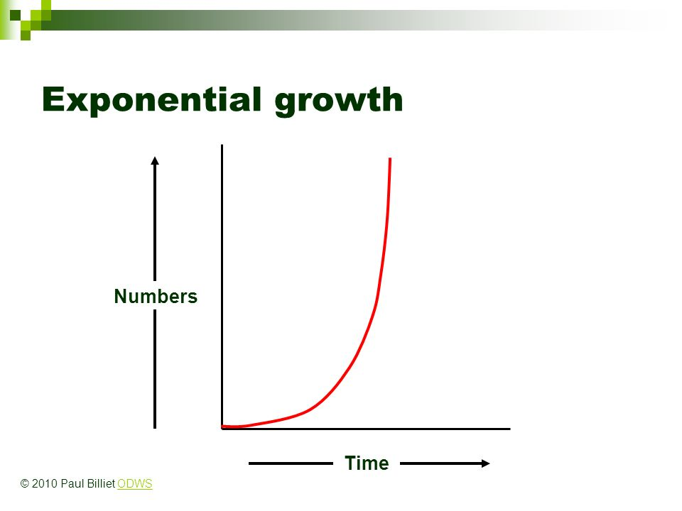 Exponential growth Time Numbers © 2010 Paul Billiet ODWSODWS