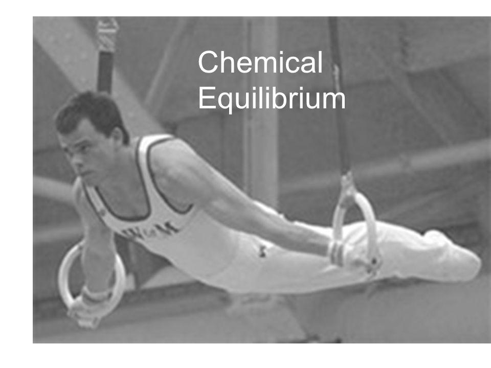 Equilibrium Chemical Equilibrium