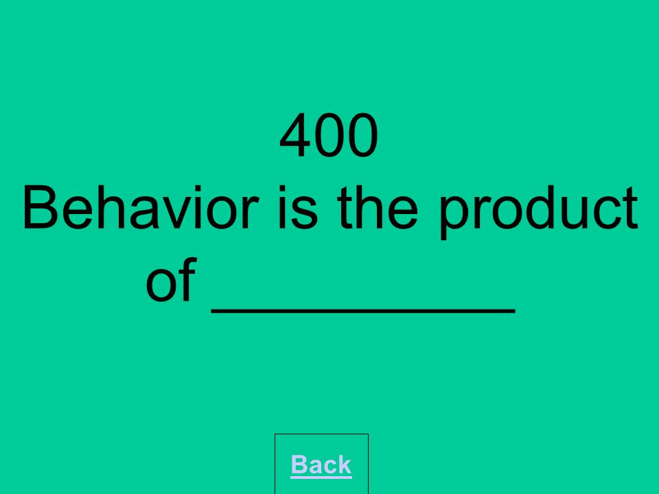 400 How has Behaviourism contributed to the systematic study of psychology? Back
