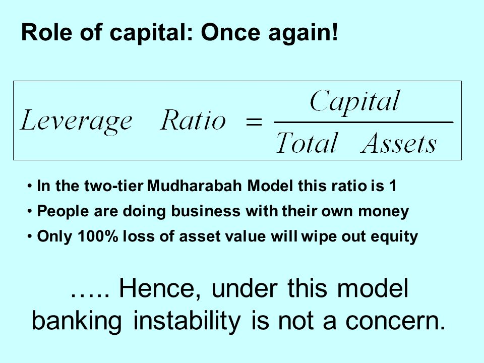 Role of capital: Once again.