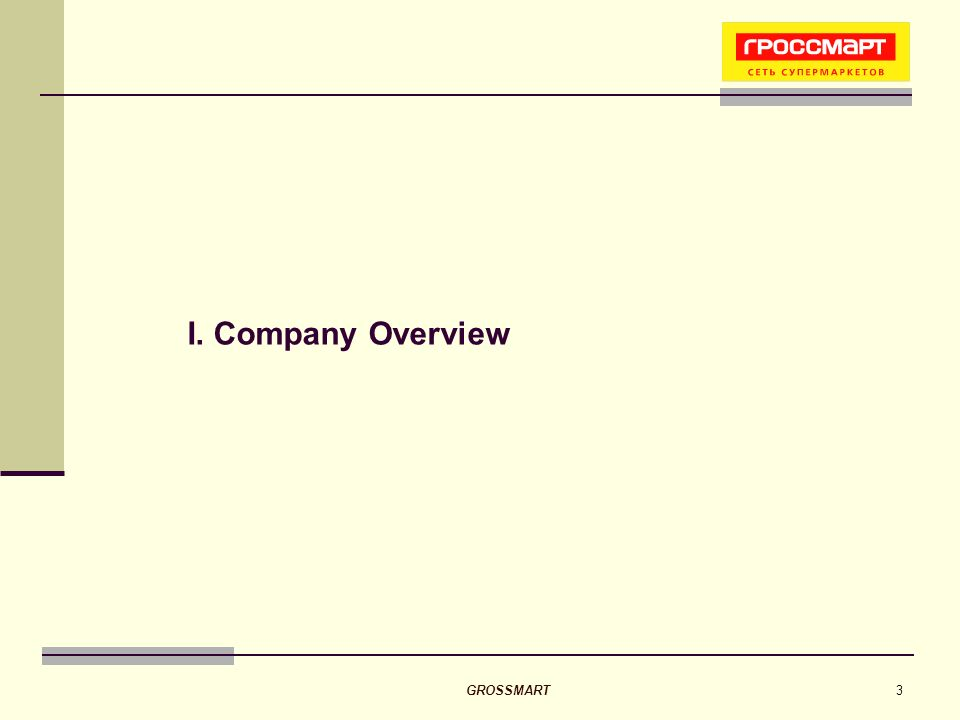 GROSSMART3 I. Company Overview