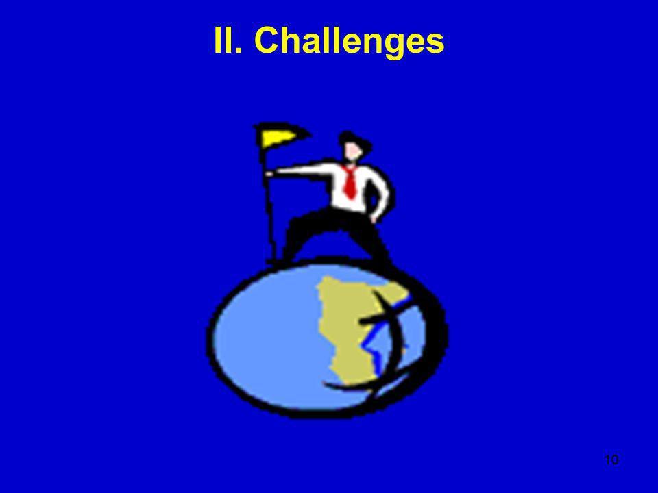 10 II. Challenges