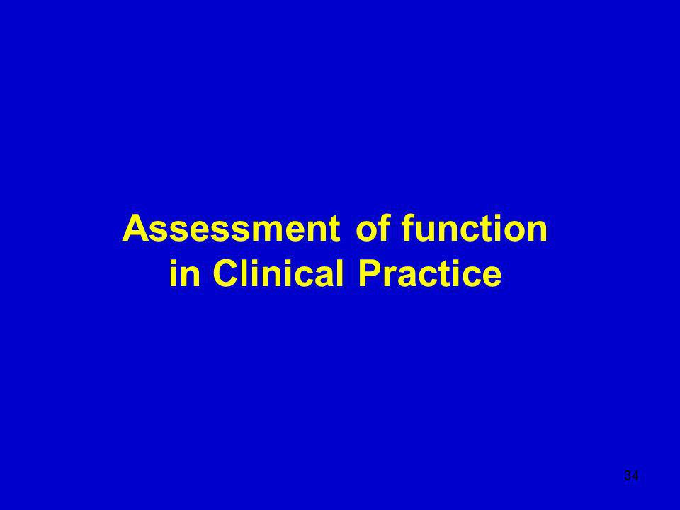 34 Assessment of function in Clinical Practice