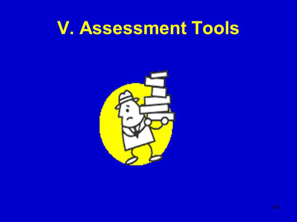 40 V. Assessment Tools