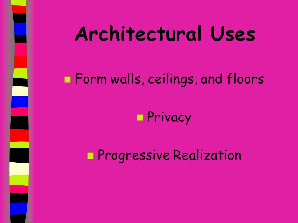 Functional Uses of Plants Architectural Aesthetical Engineering Climate Control