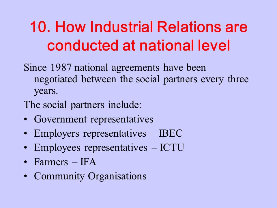 9. Role of the (EAT) Employment Appeal Tribunal The EAT is responsible for ensuring that firms obey the Unfair Dismissals Act 1977-93. It investigates