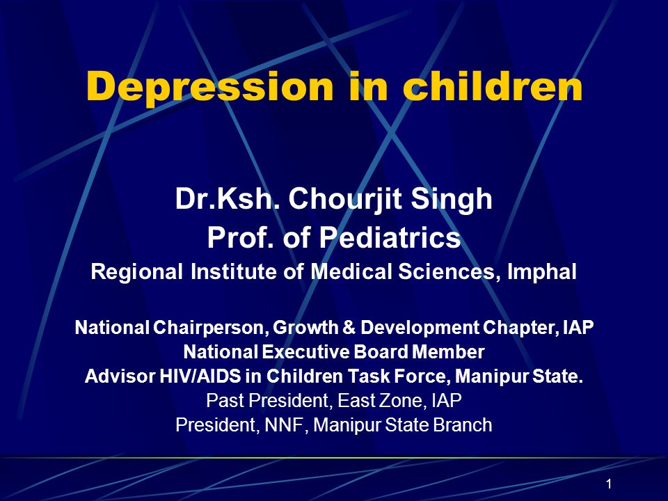 2 Introduction Depression in school-age children and adolescents remain a long-overlooked Health problem As prevalent as in adults Common cold of mental illness – Clinical Depression Specially in childhood – is a major health problem
