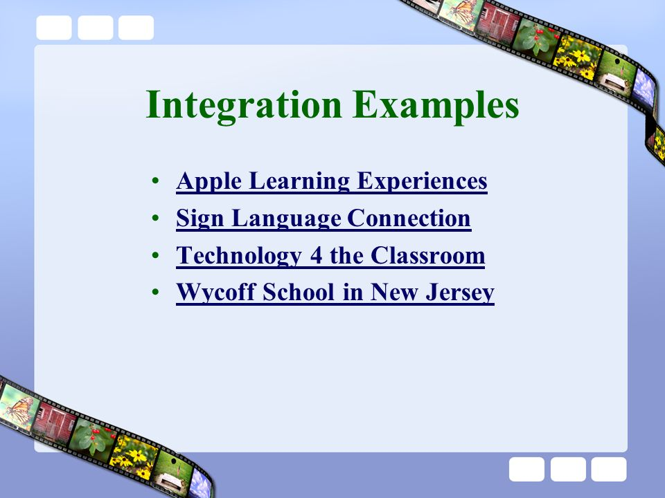 Integration Examples Apple Learning Experiences Sign Language Connection Technology 4 the Classroom Wycoff School in New Jersey