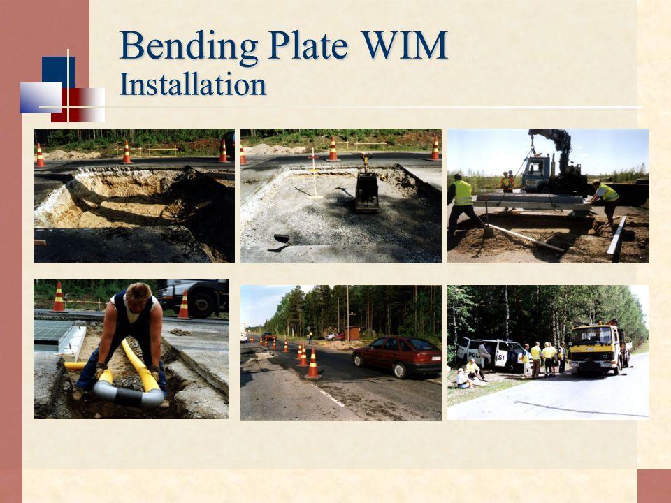 Bending Plate WIM Installation