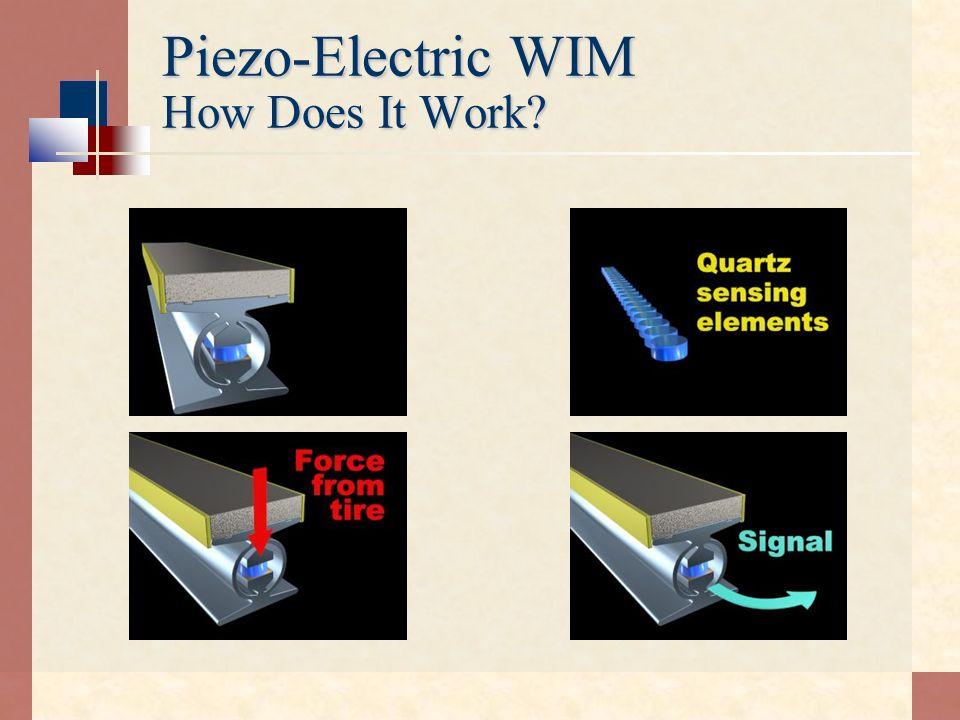 Piezo-Electric WIM How Does It Work?