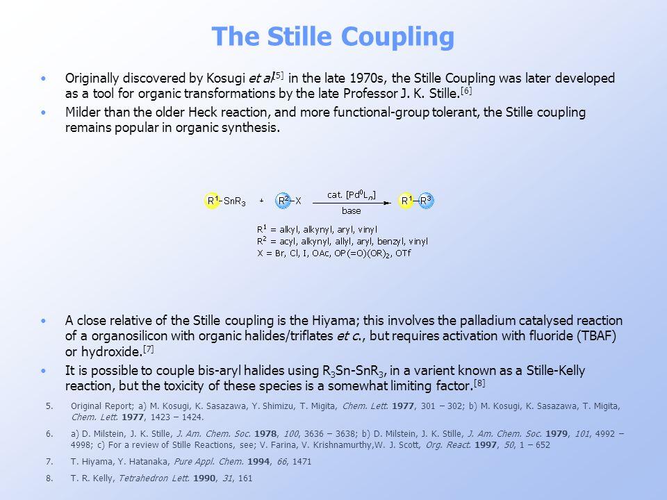 The Stille Coupling 5.Original Report; a) M. Kosugi, K. Sasazawa, Y. Shimizu, T. Migita, Chem. Lett. 1977, 301 – 302; b) M. Kosugi, K. Sasazawa, T. Mi