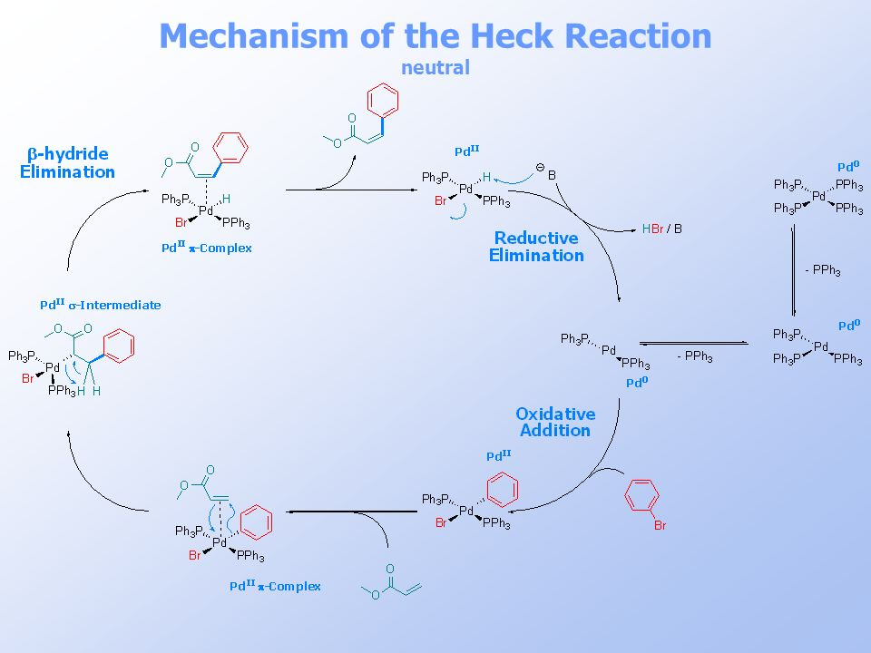 Mechanism of the Heck Reaction neutral