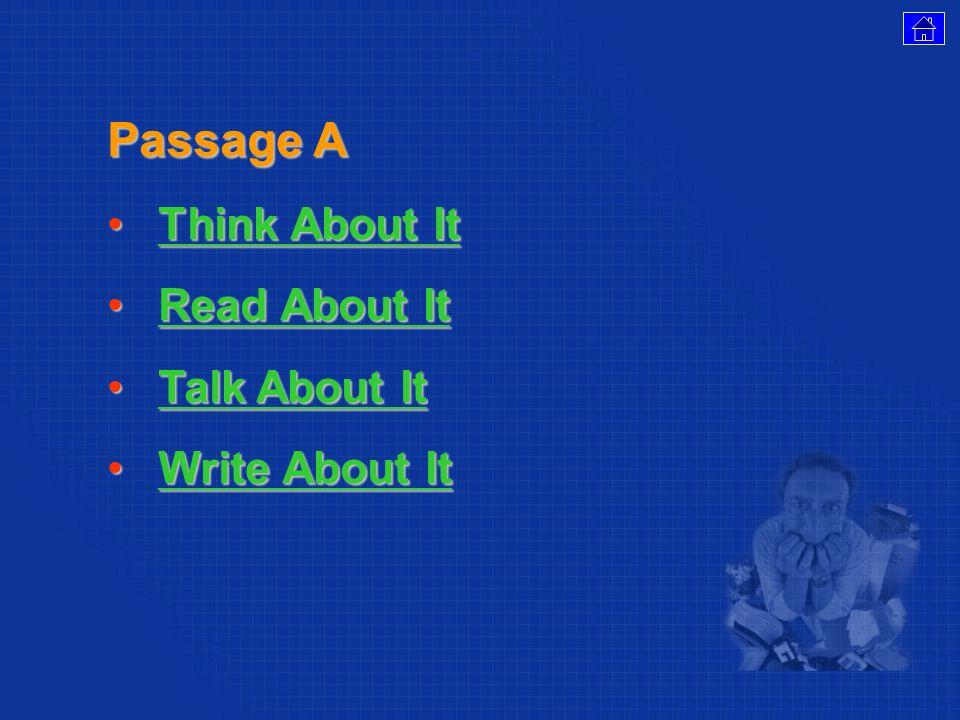 Return to Menu Return to Menu Passage A Passage A Passage B
